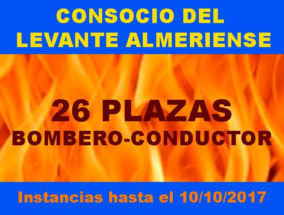 Convocatoria Bomberos Consorcio Levante Almeriense