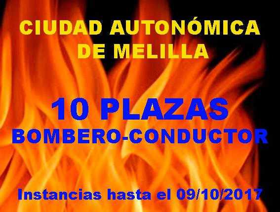 Convocatoria Bomberos Melilla