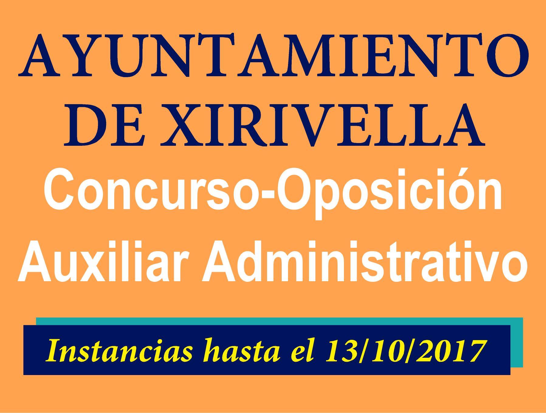 Auxiliar Administrativo Xirivella