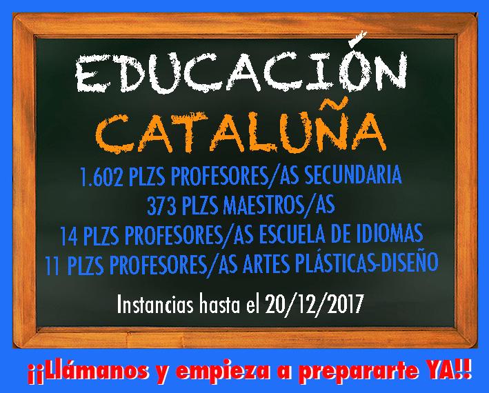 Convocatoria Educación Cataluña