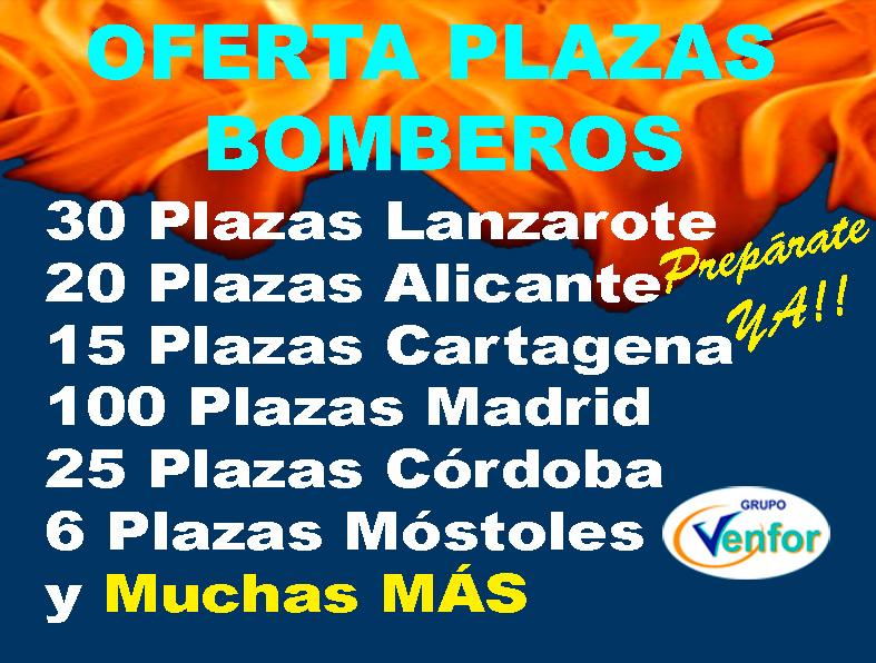 Oferta Plazas Bomberos 2018