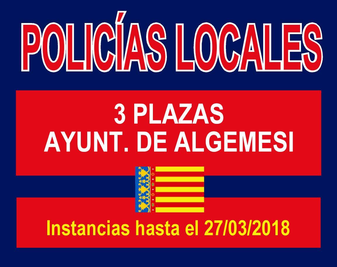 Convocatoria Policía Local Algemesi