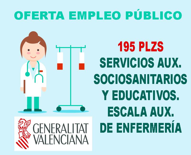 Oferta Empleo Generalitat Valenciana Aux. Enfermería