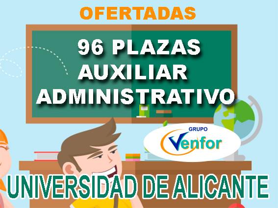 Oferta Auxiliar Administrativo Universidad de Alicante