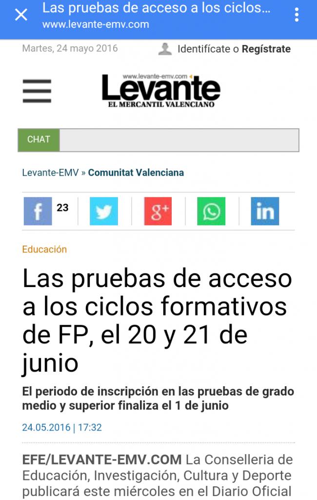 Noticia prueba acceso ciclos formativos grupo venfor for Ciclos formativos de grado superior valencia