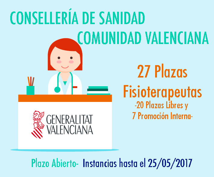 Convocatoria Sanidad Valencia 2017 Fisioterapeutas
