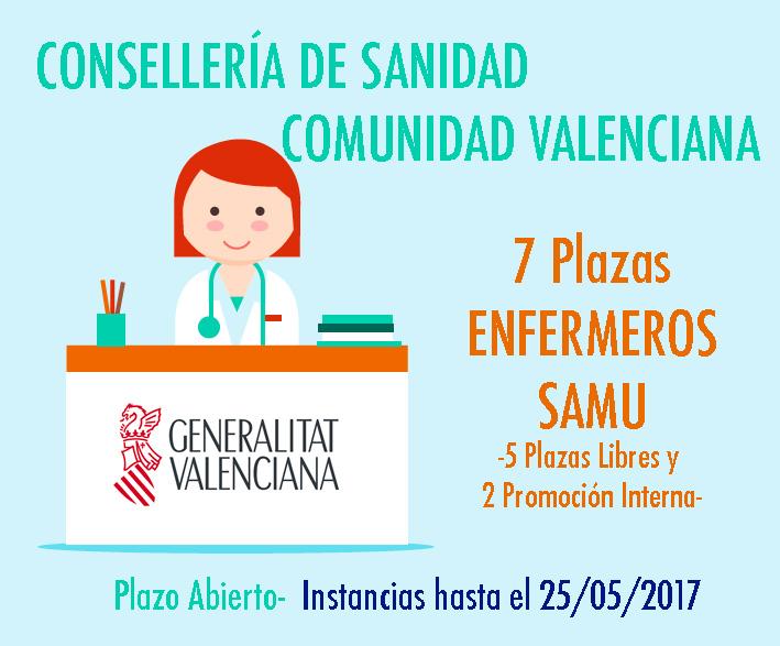 Convocatoria Sanidad Valencia 2017 SAMU