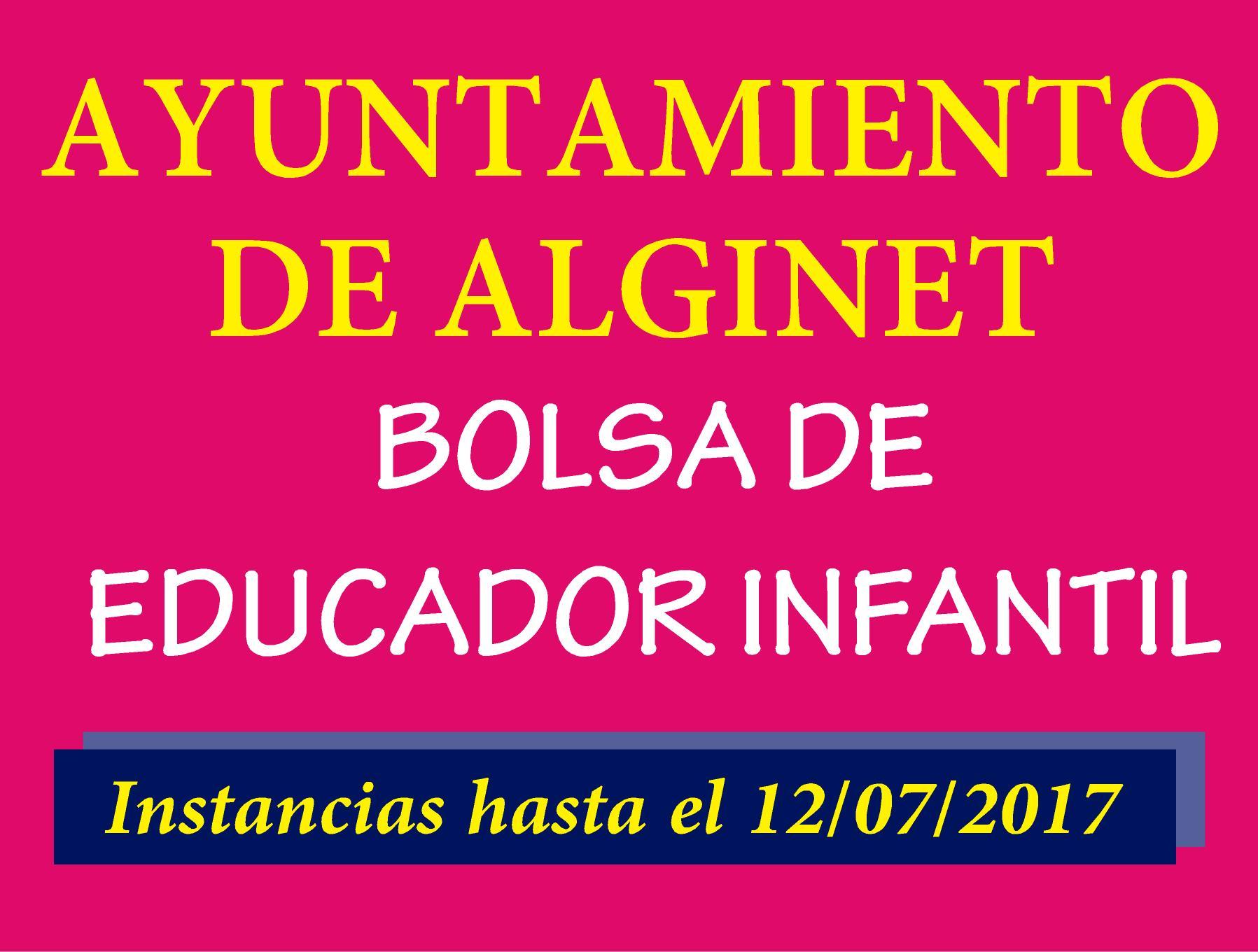 Ayuntamiento Alginet Bolsa Educador Infantil