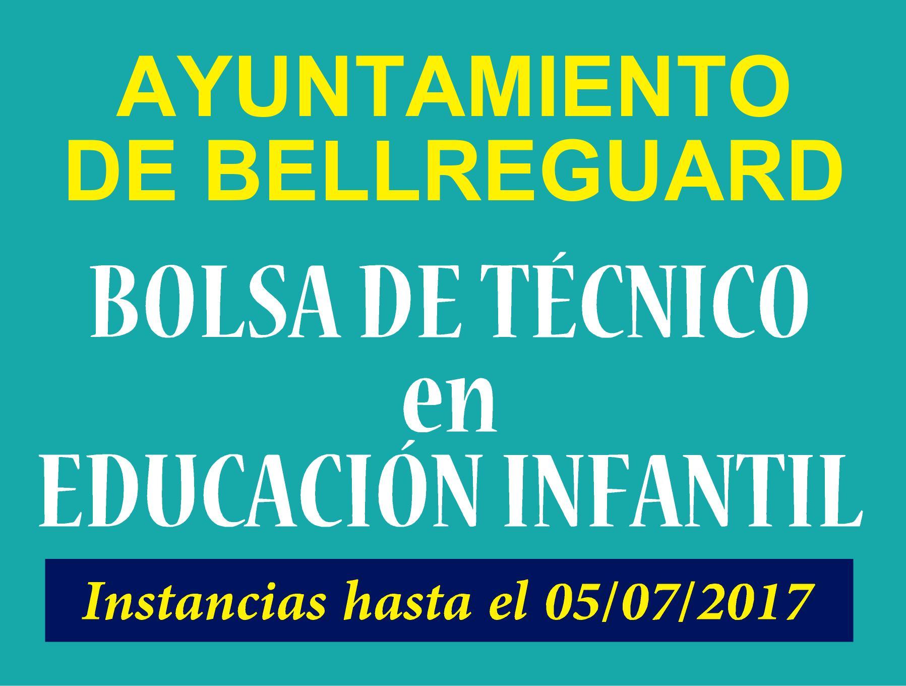 Ayuntamiento Bellreguard Técnico Educación Infantil