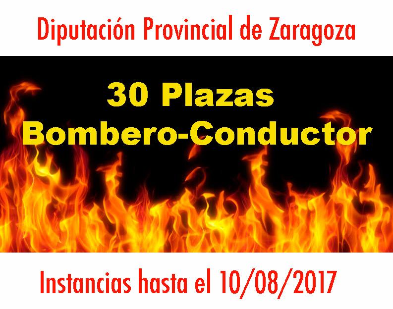 Convocatoria Bombero Diputación Zaragoza