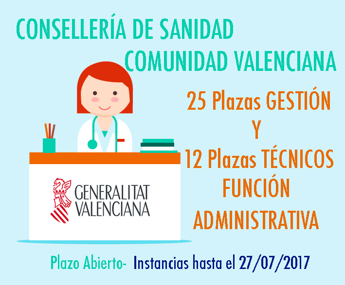 Convocatoria Sanidad Valencia Gestión y Técnicos