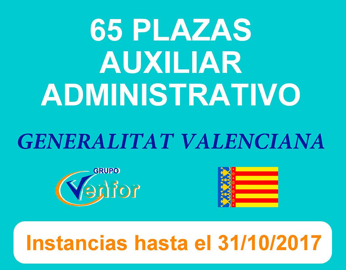 Convocatoria Auxiliar Administrativo Generalitat Valenciana
