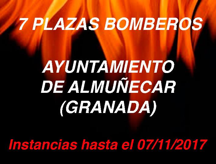 Convocatoria Bomberos Ayuntamiento de Almuñecar