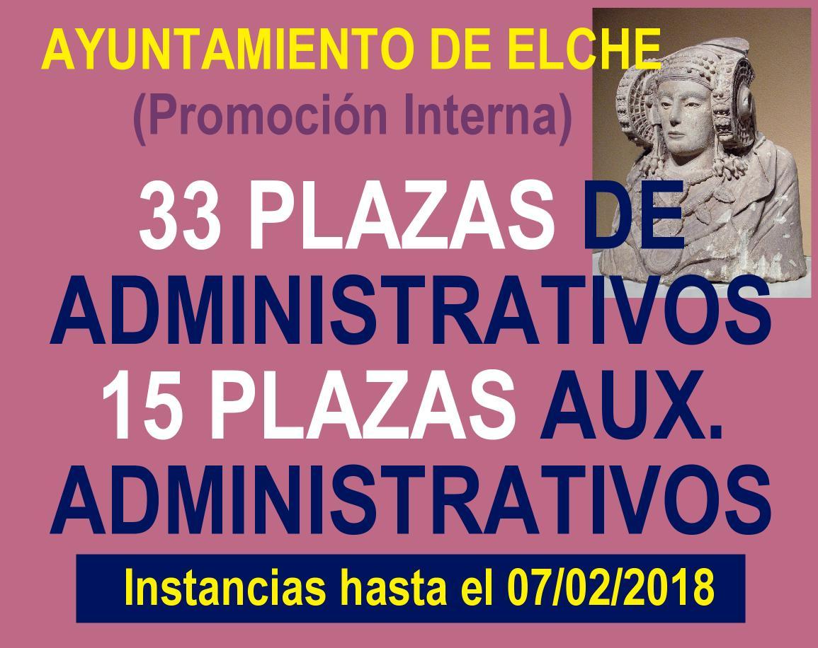 Convocatoria administración Ayuntamiento Elche