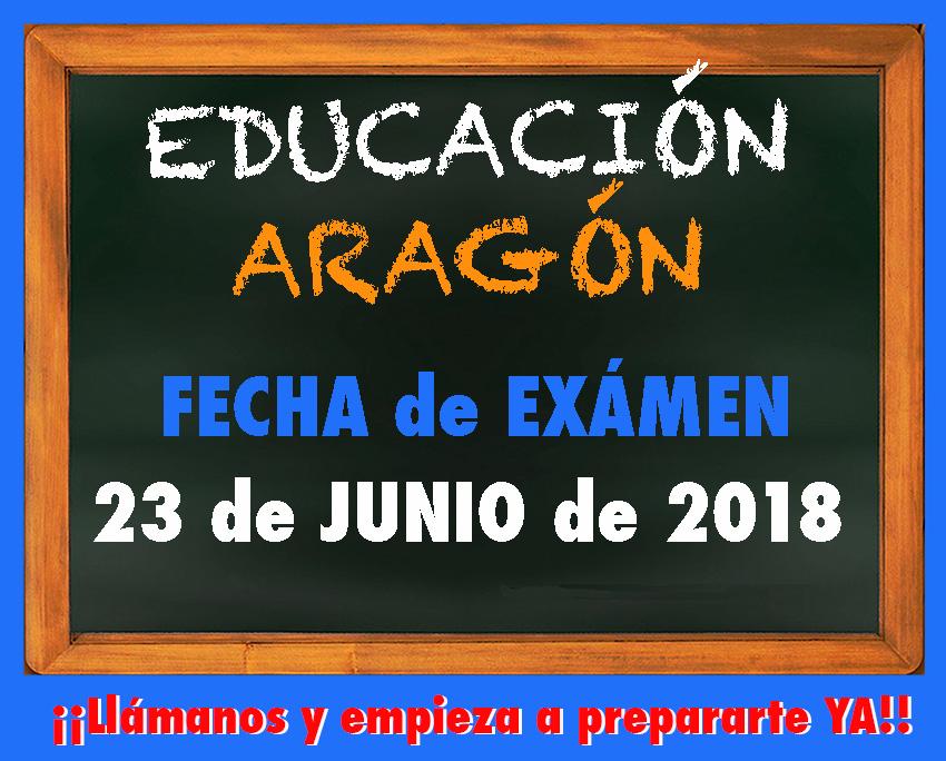 Fecha Exámen Educación Aragón