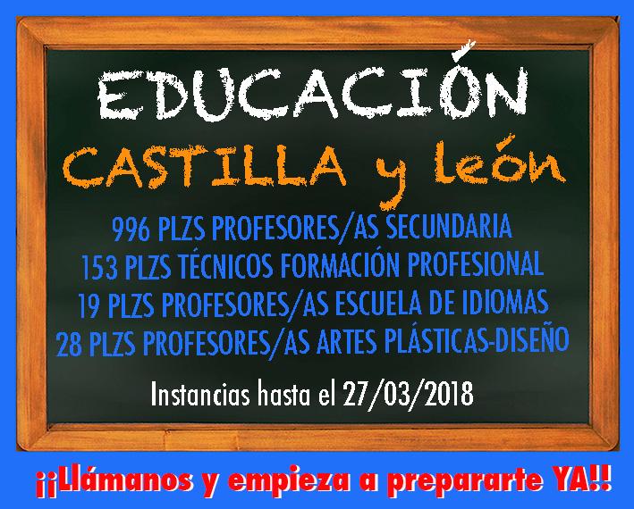 Convocatoria Educación Castilla y León