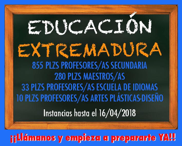 Convocatoria Educación Extremadura