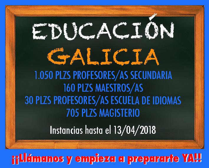 Convocatoria Educación Galicia