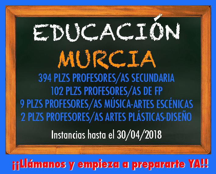 convocatoria Educación 2018 Murcia