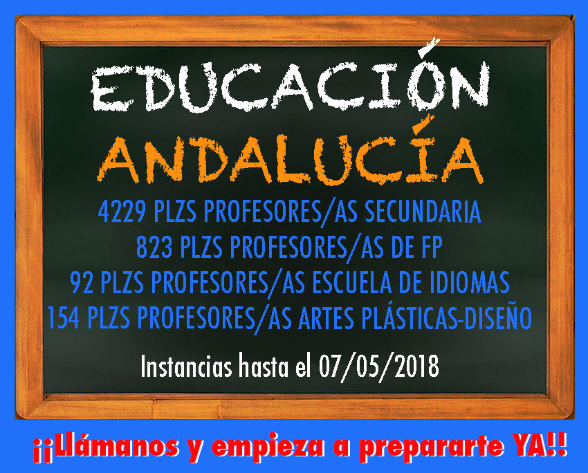Convocatoria Educación 2018 Andalucía
