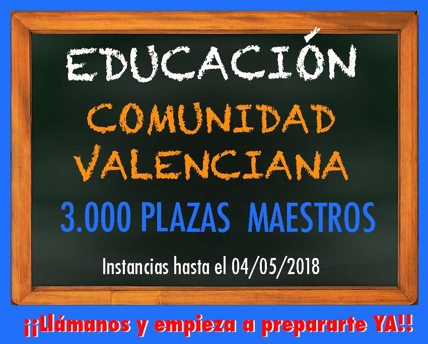 Convocatoria oposiciones comunidad valenciana para 2016 for Convocatoria maestros 2016