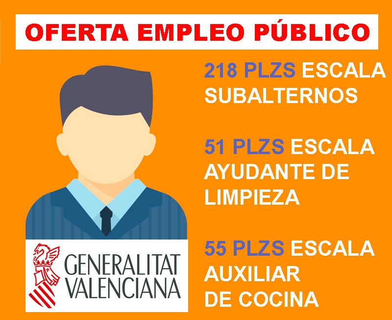 Oferta Empleo Genralitat Valenciana Subalternos