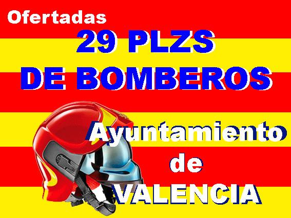 Oferta Bomberos Ayuntamiento Valencia