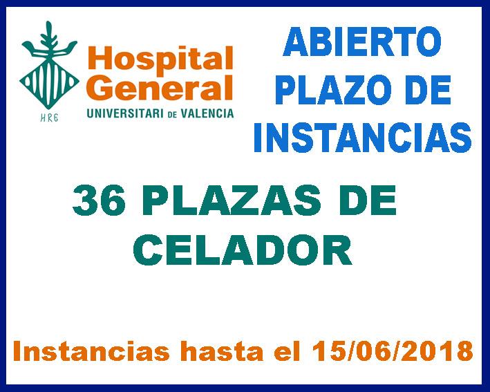 Convocaroria Celador Hospital General Valencia