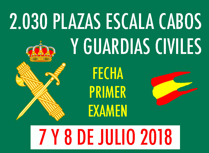 Fecha Examen Guardia Civil