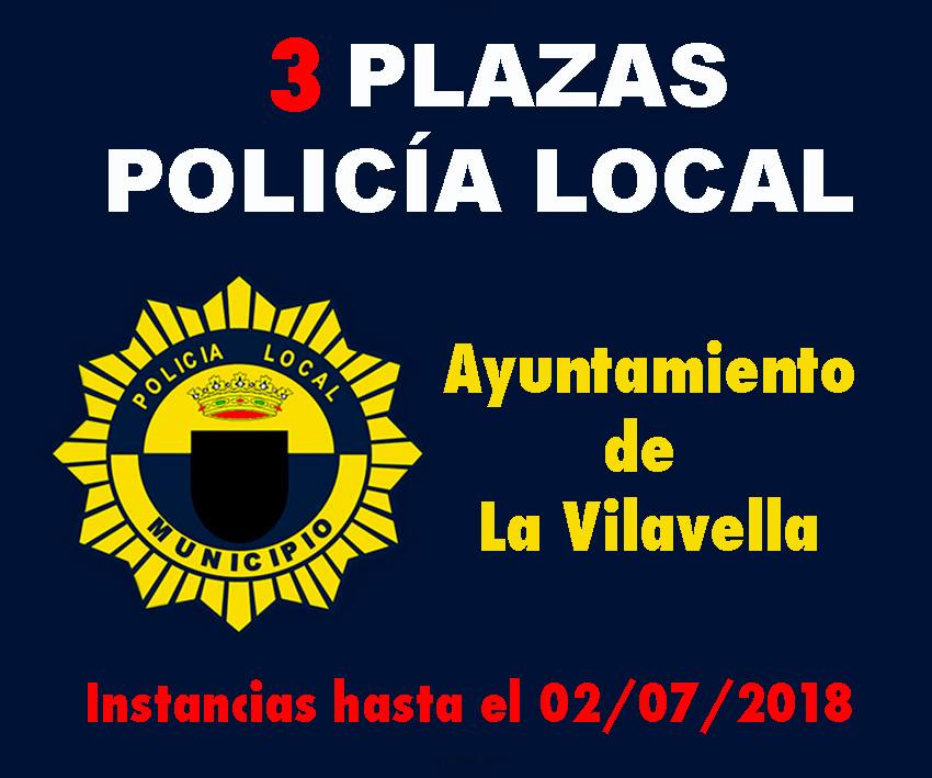 Convocatoria Policía Local La Vilavella