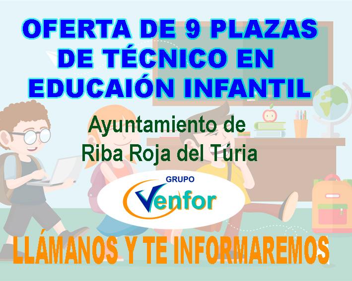 Oferta Técnico Educación Infantil Riba Roja del Turia
