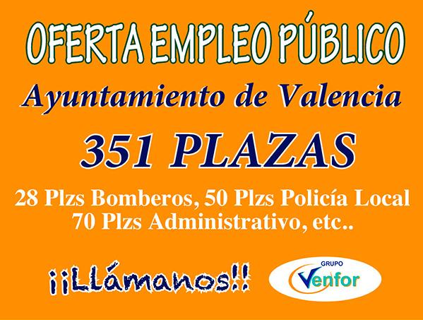 Oferta Ayuntamiento de Valencia