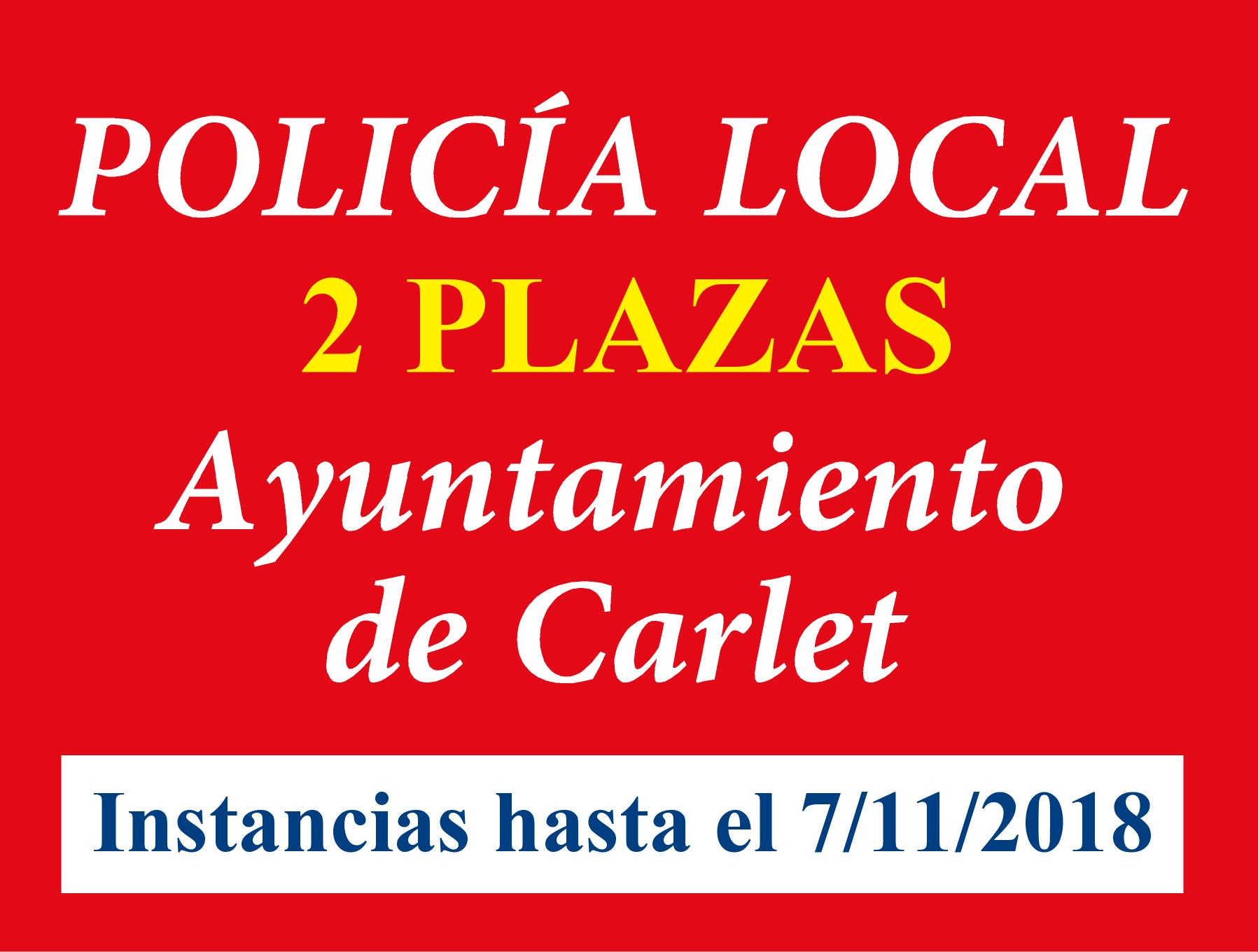 Convocatoria Policía Local Carlet