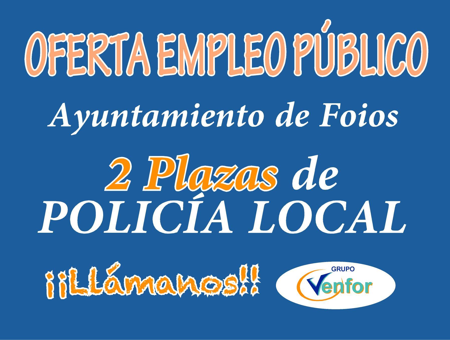 Oferta Policía local Foios